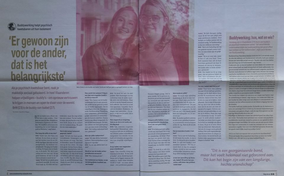 artikel Pscyhe & Brein Buddywerking Mechelen