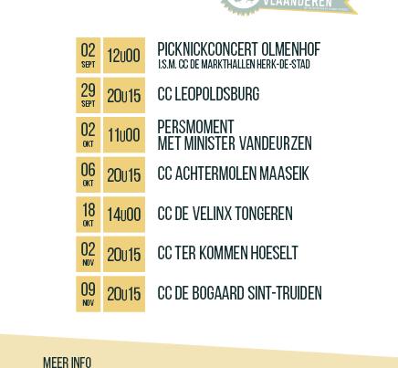 concerttour 10 jaar buddywerking limburg